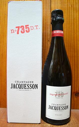 【箱入】ジャクソン シャンパーニュ キュヴェ 735 デゴルジュマン タルディフ エクストラ ブリュット オリジナル箱付 フランス AOC シャンパーニュ 白 辛口 泡 シャンパン スパークリング 750ml Jacquesson Champagne Cuvee 735 Degorgement Tardif Extra Brut