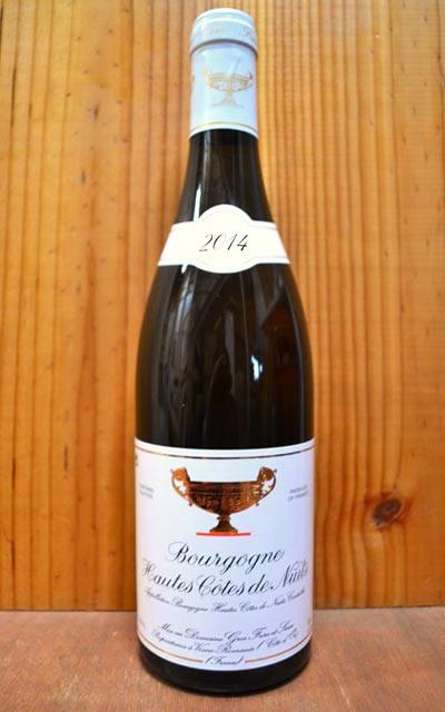【6本以上ご購入で送料・代引無料】ブルゴーニュ オート コート ド ニュイ ブラン 2014 ドメーヌ グロ フレール エ スール 白ワイン ワイン 辛口 750mlBourgogne Hautes Cotes de Nuits Blanc [2014] Domaine Gros Frere et Soeur