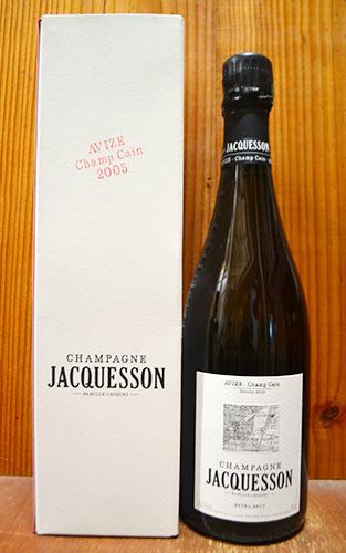 【箱付】ジャクソン シャンパーニュ グラン クリュ 特級 アヴィーズ シャン カン ミレジム 2005 ギフト箱入 泡 白 シャンパン ワイン 辛口 750ml (ジャクソン・シャンパーニュ)Jacquesson Champagne Grand Cru Avize Champ Cain Millesime [2005] Extra Brut