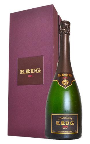 【豪華ギフト箱入】クリュッグ シャンパーニュ ブリュット ヴィンテージ 2004 フランス AOCミレジム シャンパーニュ 箱付 並行 白 辛口 泡 シャンパン 750ml (クリュッグ・シャンパーニュ)KRUG Champagne Brut Millesime [2004]