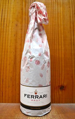 【6本以上ご購入で送料・代引無料】【サクララッピング】フェッラーリ (フェラーリ) ブリュット (メトッド クラシコ) 正規 泡 白 スプマンテ スパークリングワイン ワイン 辛口 750ml さくら 桜Ferrari Brut Blanc de Blanc Sparkling DOC Trento (V.S.Q.P.R.d TALENTO)