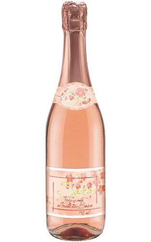 サクラ フリッツァンテ ディ チリエジオ ドネリ (さくらの季節限定品) イタリア エミーリア ロマーニャ ロゼ ワイン やや辛口 泡 スパークリング 750ml (さくらラベル サクララベル) 正規品Sacra Frizzante di Ciliegio Donelli Vini sparkling Rose