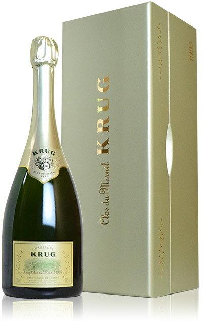 【豪華木箱入】クリュッグ クロ デュ メニル ブリュット ヴィンテージ 1995年 ブラン ド ブラン 箱付 ロットナンバー入 正規 ロバートパーカー95点&ワインスペクテーター誌97点獲得ワイン フランス 白 ワイン 辛口 泡 シャンパン シャンパーニュ スパークリング 750ml