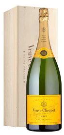 【超大型ボトル 豪華木箱入】ヴーヴ クリコ シャンパーニュ ポンサルダン ブリュット イエローラベル 3L ダブルマグナム ジェロボアム 正規 ギフト 箱付 泡 白 シャンパン ワイン 辛口 3000mlVeuve Clicquot Champagne Ponsardin jeroboam Gift Dx Wooden Box