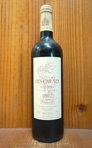 【6本以上ご購入で送料・代引無料】シャトー ル クロ デ カルム 2008 AOCペサック レオニャン (シャトー レ カルム オー ブリオンの2ndラベル) 赤ワイン ワイン 辛口 フルボディ 750mlChateau Le Clos des Carmes [2008] AOC Pessac Leognan