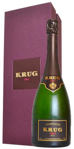 【送料無料】【豪華ギフト箱入】クリュッグ シャンパーニュ ブリュット ヴィンテージ 2004 ギフト 箱付 正規 泡 白 シャンパン ワイン 辛口 750mlKRUG Champagne Brut Millesime [2004] AOC Millesime Champagne Gift Box
