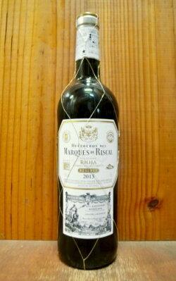 マルケス デ リスカル ティント レセルヴァ 2013 DOC リオハ スペイン リオハ 赤ワイン 辛口 フルボディ 750ml (マルケス・デ・リスカル・ティント・レセルヴァ)Heredenes Del Marques De Riscal Tinto Reserva [2013] DOC Rioja