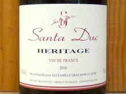 エリタージュ 2016 サンタ デュック ヴァン ド フランス 赤ワイン 辛口 フルボディ 750mlHeritage [2016] Santa Duc