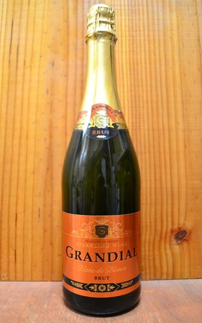 グランディアル・ブリュット・ブラン・ド・ブラン・ヴァン・ムスーゴールドを基調としたエチケットと、フルーティーでエレガントな味わいが人気の辛口スパークリング!!