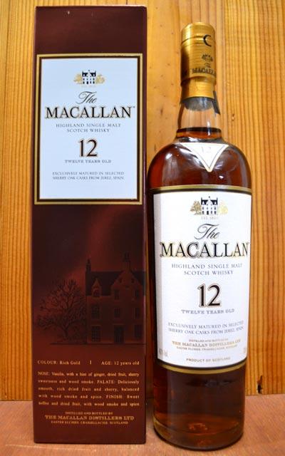 【お一人様2本限り】【箱入】ザ マッカラン シェリーオーク 12年 40% 700ml 箱付 正規THE MACALLAN AGED 12 YEARS HIGHLAND SINGLE MALT SCOTCH WHISKY