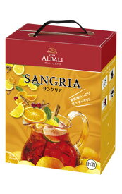 ヴィニャ・アルバリ・サングリア・3,000ml・3L・パック・スペイン・甘口・赤ワインアルコール度数7%VINA ALBALI SANGRIA 3,000ml 3L PACK SPAIN SWEET RED WINE 7%