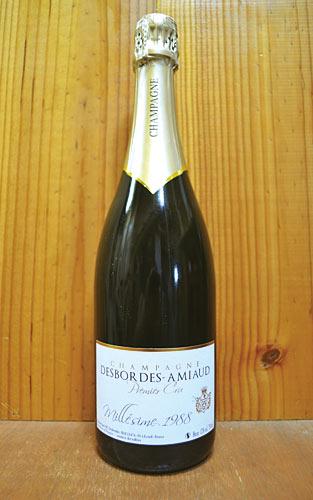 デボルド アミオー シャンパーニュ プルミエ クリュ ミレジム 1988 ブラン ド ノワール ブリュット ミレジメ 泡 白 辛口 シャンパン 750ml (デボルド・アミオー)Desbordes-Amiaud Champagne 1er Cru Ecueil Brut Millesime [1988] R.M