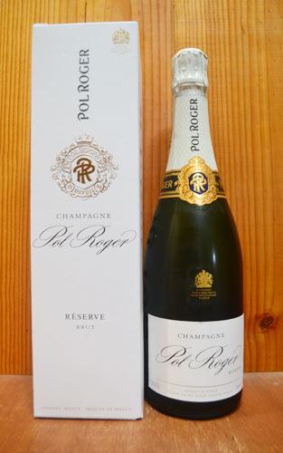 【ギフト箱入】ポル ロジェ シャンパーニュ ブリュット レゼルヴ NV AOCシャンパーニュ 正規代理店輸入品 正規品 白 泡 シャンパン シャンパーニュ スパークリング 750mlPol Roger Champagne Brut Reserve N.V AOC Champagne Gift Box