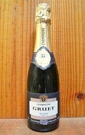 """グルエ・シャンパーニュ""""セレクション・ブリュット""""(コート・デ・バールのビュクスイユ村の名門)・AOCシャンパーニュ・ハーフボトル・正規代理店輸入品GRUET Champagne selection Brut (Buxeuil) AOC Champagne (Half)"""
