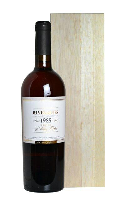 リヴザルト 1985 ドメーヌ ル ヴュー シェーヌ 白ワイン 極甘口 甘口 750ml ギフト 箱付 ルヴューシェーヌRivesaltes [1985] Domaine Le Vieux Chene (Ma's del vin) AOC Rivesaltes Wooden Box