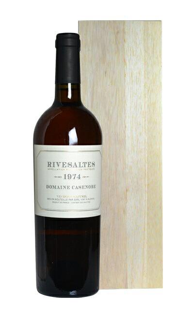リヴザルト 1974 ドメーヌ カサノーブ 白ワイン 甘口 750ml フランス ラングドック ルーション 木箱入りRivesaltes [1974] Domaine Casenove(Viny a Alenya)AOC Rivesaltes