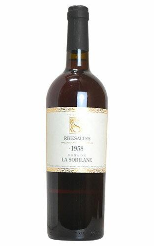 リヴザルト 1958 ドメーヌ ラ ソビレーヌ 赤ワイン 辛口 フルボディ 750mlRivesaltes [1958] Domaine la Sobilane AOC Rivesaltes