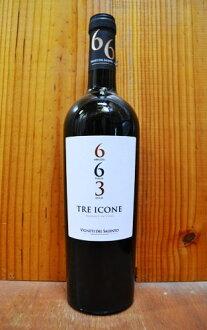 """託盤系列""""663"""",""""酒紅牛二隊""""(阿布魯佐省和恰阿布魯佐) & (在普利亞普米) & (西西里島,nerello mascalese),vigneti del Salento 14 %tre 意見 ICONE""""663"""""""