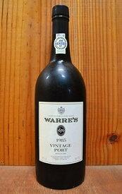 ワレ ヴィンテージ ポート 1985 正規品 ワレ社 シミントン ファミリー エステーツ 赤ワイン 赤 甘口 甘味果実酒 フルボディ 750ml ポートワインWARRE'S Vintage Port [1985] Symington Family Estates