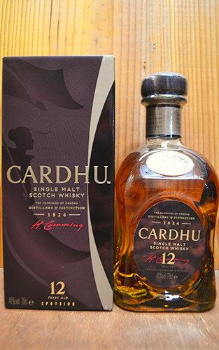 【箱入】カーデュ[12]年・シングル・スペイサイド・モルト・スコッチ・ウイスキー・箱入・ザ・カーデュ蒸留所元詰CARDHU [12] Years Speyside Single Malt Scotch Whisky (Box) 40% 700ml