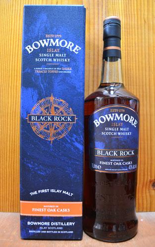 【箱入・ビッグサイズ】ボウモア・ブラック・ロック・アイラ・シングル・モルト・スコッチ・ウイスキー・免税店向け・オフィシャルボトル・1,000ml・40% ハードリカーBOUWMORE BLACK ROCK ISKAY SINGLE MALT SCOTCH WHISKY 1,000ml 40%