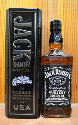 ジャック ダニエル ブラック オールド No.7 40度 700ml 正規 メタルボックス入り テネシーウイスキー ハードリカー