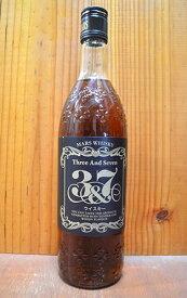 [正規品]マルス ウイスキー 3&7(スリー アンド セブン)本坊酒造 信州マルス蒸留所 ウイスキー 720ml 39%