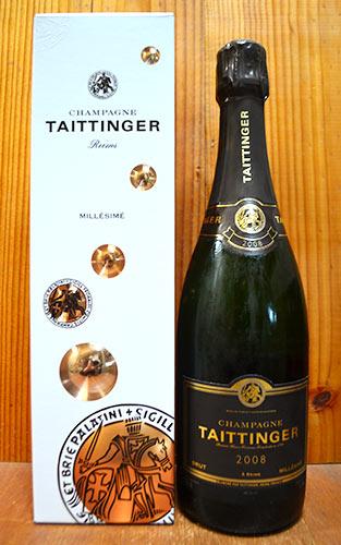 【箱入】テタンジェ シャンパーニュ ブリュット ミレジム 2008 テタンジェ社 AOCミレジム シャンパーニュ 正規 ギフト箱入 泡 白 辛口 シャンパン 750mlTAITTINGER Champange Brut Millesime [2008] Box AOC Millesime Champagne Gift Box