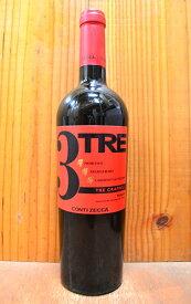 トレ グラッポリ ロッソ 2017 コンティ ゼッカ I.G.Tプーリア 赤ワイン 辛口 ミディアムボディ 750ml (トレ・グラッポリ・ロッソ) (トレグラッポリロッソ)3 TRE Grappoli Rosso [2017] Conti Zecca I.G.T PUGLIA