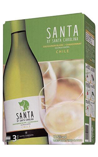 【4本ご購入で送料無料】サンタ バイ サンタ カロリーナ 白 ソーヴィニヨン ブラン&シャルドネ サンタ カロリーナ社 3L 白ワイン 辛口 3000mlSANTA BY SANTA CAROLINA Sauvignon Blanc & Chardonnay Santa Carolina 3L