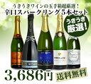 【送料無料】超限定販売!うきうき厳選!究極辛口スパークリング5本セット
