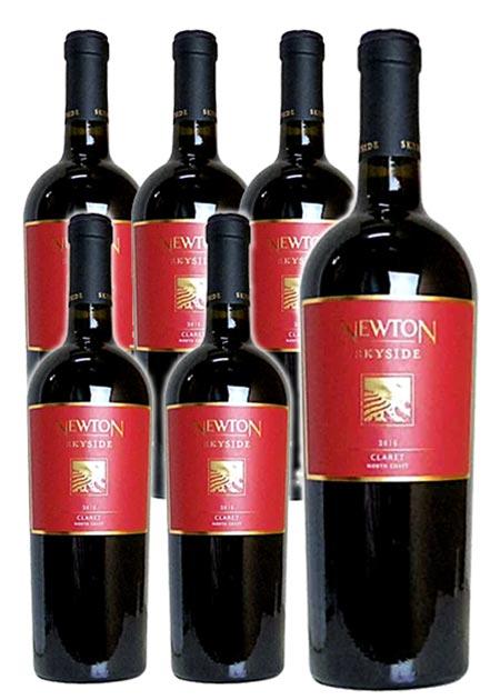 【送料無料・6本セット】ニュートン スカイサイド クラレット レッドラベル 2016年 ニュートン・ヴィンヤード 750ml×6 正規 (アメリカ カリフォルニア 赤ワイン)