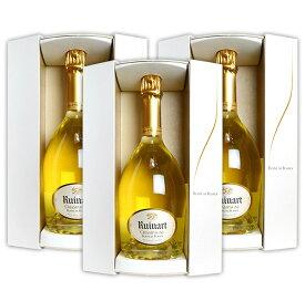 【送料無料・3本セット】ルイナール (リュイナール) ブラン ド ブラン 白 泡 正規 箱付 750ml×3 シャンパン シャンパーニュ AOC ブラン ド ブラン シャンパーニュRuinart Champagne Blanc de Blancs Brut Gift Box