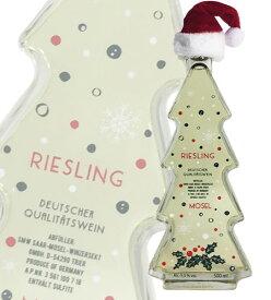 クリスマス・ツリー型・ボトル・モーゼル・リースリング(白)・Q.b.A[2018]年・かわいいクリスマスツリー型ボトル入り・やや甘口・(ザール・モーゼル・ヴィンツァーゼクト社)Mosel Riesling White Q.b.A [2018] Christmas Tree Bottle
