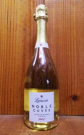 """ランソン""""ノーブル キュヴェ""""ブラン ド ブラン [2002]年 正規 シャルドネ100%・AOCヴィンテージ・シャンパーニュ・ボトルにロットナンバー入りLanson """"Noble Cuvee"""" Blanc de Blancs Millesime [2002] AOC Millesime Champagne"""