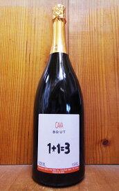 大型マグナムボトル・カヴァ・1+1=3・ウ・メス・ウ・ファン・トレス・ブリュット・大型マグナム・サイズ・1500ml・15ヶ月熟成品・泡・白・辛口・(シャンパン方式)・スパークリングワインCAVA BRUT 1+1=3 (Aged 15month) M.G. Guardio de Font-Rubi