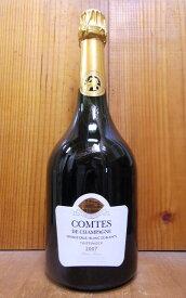 大型ボトル テタンジェ コント ド シャンパーニュ ブラン ド ブラン ブリュット ミレジム 2007年 蔵出し限定品 大型マグナムサイズ(1500ml) AOCミレジメ シャンパーニュ 正規TAITTINGER Comtes de Champagne Millesime 2007 Blanc de Blancs