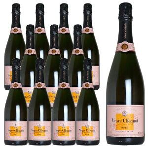 【送料無料 12本セット】ヴーヴ クリコ ローズラベル ロゼ N.V 正規 箱なし 750ml シャンパン シャンパーニュ 泡 スパークリング (ヴーヴ クリコ) (ヴーヴクリコ) (ブーブクリコ)Champagne Veuve Veuve C