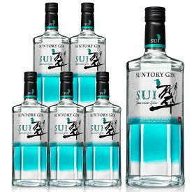[送料無料・6本セット・正規品]サントリージン 翠(すい)ジャパニーズ クラフト ジン 700ml 40%SUNTORY GIN SUI JAPANEASE GIN 700ml 40% gin_SUIG