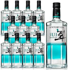 [送料無料・12本セット・正規品]サントリージン 翠(すい)ジャパニーズ クラフト ジン 700ml 40%SUNTORY GIN SUI JAPANEASE GIN 700ml 40% gin_SUIG