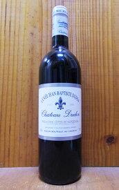 シャトー デュドン キュヴェ ジャン バプティスト ディドン 2000 AOCプルミエール コート ド ボルドー ジャン メルロー 赤ワイン ワイン 辛口 フルボディ 750mlChateau Dudon Cuvee Jean Baptiste Dudon [2000] AOC Premiers Cotes de Bordeaux (Jean Merlaut Family)