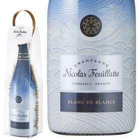 ニコラ フィアット シャンパーニュ ブリュット ブラン ド ブラン inspired by HOKUSAI 日本市場限定ボトル クリアケース入り AOCシャンパーニュNICOLAS FEUILLATTE Champagne Brut Blanc de Blancs inspired by HOKUSAI AOC Champagne