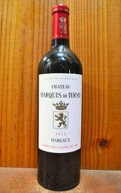 シャトー マルキ ド テルム 2011年 メドック格付第4級 メドック グラン クリュ クラッセ 750ml 赤ワイン AOCマルゴーChateau MARQUIS DE TERME 2011 AOC Margaux Grand Cru Classe du Margaux en 1855