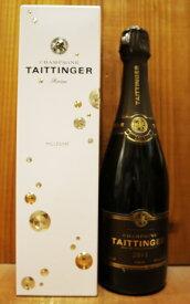 【箱付】テタンジェ シャンパーニュ ブリュット ミレジム 2013 ギフト 箱入 白 辛口 泡 シャンパン スパークリング ワイン 750mlTAITTINGER Champange Brut Millesime 2013 AOC Millesime Champagne Gift Box