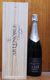 【豪華ギフト木箱入】A.R.ルノーブル グラン クリュ 特級(シュイイ特級100%)コレクション レア ヴィンテージ 1988年 ブラン ド ブラン 正規品A.R Lenoble Grand Cru (G.C Chouilly 100%) Blanc de Blancs Collection Rare Vintage 1988 Wooden Box