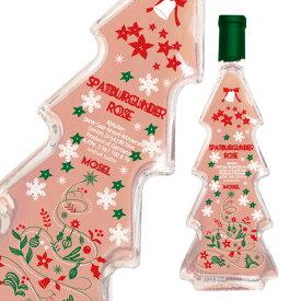 クリスマス ツリー型 ボトル モーゼル シュペートブルグンダー ロゼ・Q.b.A 2019年 かわいいクリスマス ツリー型ボトル入り やや甘口 ロゼ モーゼルラント社Mosel Rose Spatburgunder Q.b.A 2019 Christmas Tree Bottle
