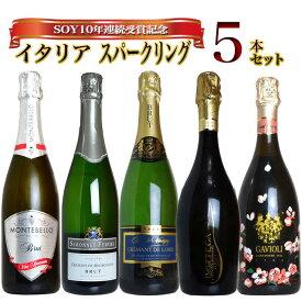 SOY10年連続受賞記念 うきうきスタッフ厳選 玉手箱ハッピースパークリング飲み比べ5本セット