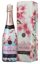 ニコラ フィアット シャンパーニュ ロゼ ファースト ブルーム オブ サクラ SAKURA レゼルヴ エクスクリューシヴ ロゼ サクラ ラベル 正規品 ギフトボックス入りNicolas Feuillatte Champagne Rose 1st Bloom of SAKURA Reserve Exclusive Rose