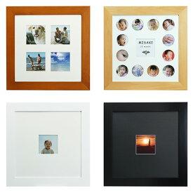 正方形 フォトフレーム 30角(内寸:306×306mm) 万丈 プレタイム 30角 全4色 ブラウン、ナチュラル、ホワイト、ブラック スクエア 木製 おしゃれな額縁 壁掛け・置き兼用