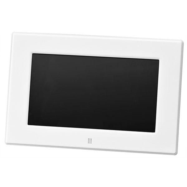 グリーンハウス 7型ワイド高解像度液晶搭載 7インチ デジタルフォトフレーム ホワイト GH-DF7V-WH【送料無料】